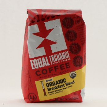 Equal Exchange Organic Breakfast Blend Coffee 12 oz
