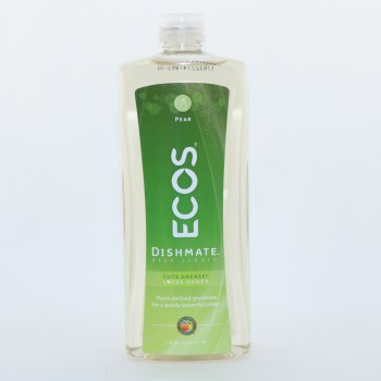 Ecos Plant Derived Dishmate Dish Liquid Pear Scented  25 oz