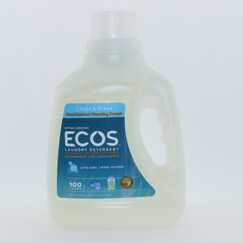 Ecos Hypoallergenic Laundry Detergent With Built In Fabric Softener Plant Derived Cleaning Power Earth Friendly Product 100 oz