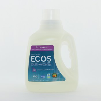 Earth Friendly Ecos Lavender Hypoallergenic Detergent with Built In Fabric Softener  2x Ultra Lifts Dirt Loves Colors Up to 100 Loads 100 oz