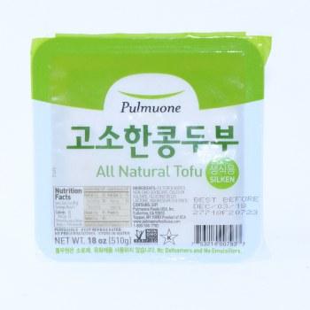 Pulmuone  All Natural Silken Tofu  Non GMO  18 oz