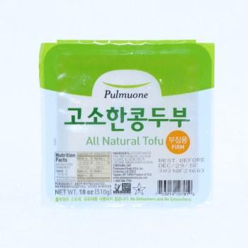 Pulmuone  All Natural Firm Tofu  Non GMO 18 oz