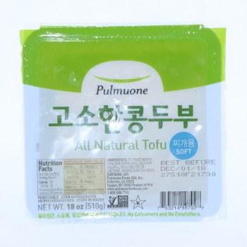 Pulmuone  All Natural Soft Tofu  NON GMO 18 oz