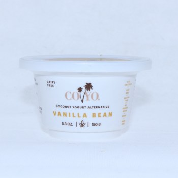 Coyo Coconut Yogurt Alternative Vanilla Bean Flavor Dairy Free Live Cultures Non GMO Gluten Free No Refined Sugar Vegan 53 oz  5.3 oz