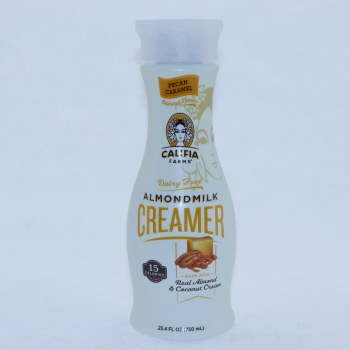 Califia  Pecan Caramel Almond Milk Creamer  Dairy Free  Real Almond  and  Coconut Cream  Vegan  BPA Free  Gluten Free  Kosher  Carrageenan Free  Non GMO 25.4 oz