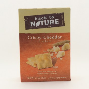 Back to Nature Cryspy Cheddar Crackers Contains Wheat Flour Sunflower Oil Cheddar Cheese  and  Sea Salt