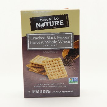Back to Nature Cracked Black Pepper Harvest Whole Wheat Crackers 8.5 oz