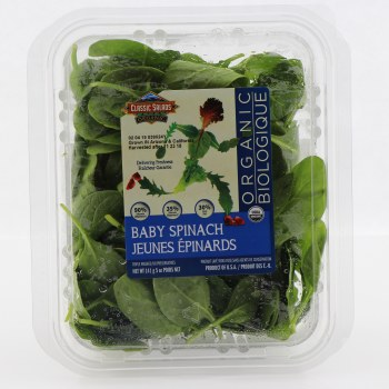 Classic Salads Organic Baby Spinach  5 oz box