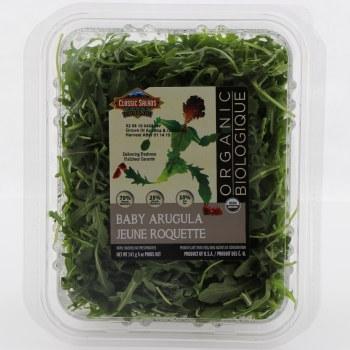 Classic Salads Organic Baby Arugula  5 oz box