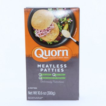 Quorn Meatless Patties Non GMO Soy Free 4 Patties 10.6 oz 10.6 oz