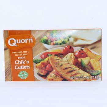 Quorn Naked Chik'n Cutlets, Meatless, Soy Free & Gluten Free, Non GMO 9.7 oz
