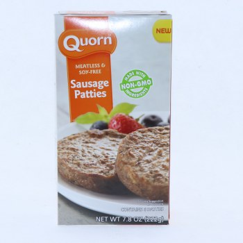 Quorn Sausage Patties Meatless  and  Soy Free Non GMO 7.8 oz