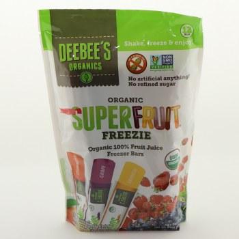 Deebee's Organics, Organic SuperFruit Freezie Bars, NON GMO, No Artificial, No Refined Sugar, & USDA Organic 12 pc