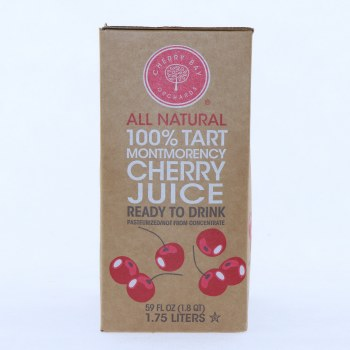 Cherry Bay Orchard Cherry Juice, 100% Tart, 1.75 Liters, No Added Sugars, Preservatives, or Colors. Non GMO, Gluten Free.  59 oz