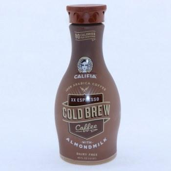 Califia XX Espresso Cold Brew Coffee with Almond Milk Dairy Free Vegan Free BPA Free Carrageenan Free Kosher Gluten Free Non GMO 48 oz