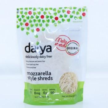 Daiya Original Mozzarella Style Shreds Dairy Lactose and Casein Free Gluten And Soy Free Cholesterol Free 8 oz