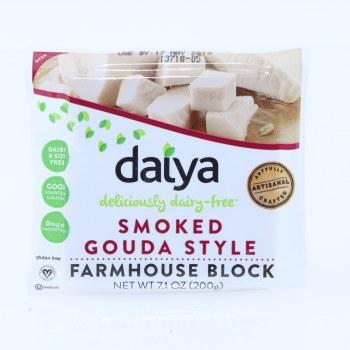 Daiya Smoked Gouda Style Farmhouse Block Dairy  and  Soy Free Good Source of Calcium 0mg of Cholesterol Gluten Free 7.1 oz