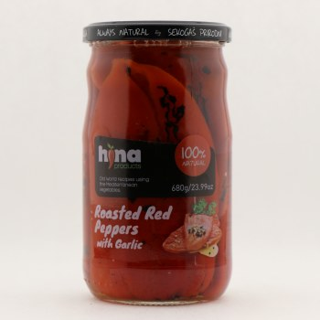 Hina Roasted Red Peppers w Garlic 23.99 oz
