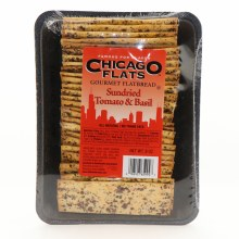 Chicago Flats Sundried Tomato  and  Basil  Gourmet Flatbread All Natural No Trans Fats 8 oz