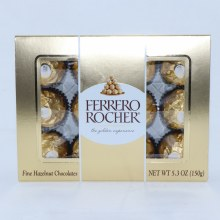 Ferrero Rocher, Fine Hazelnut Chocolates  5.3 oz