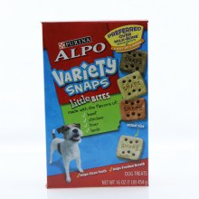 Purina Alpo Variety Snaps Little Bites Dog Treats Made with the Flavors of Beef Chicken Liver and Lamb Helps Clean Teeth and Helps Freshen Breath