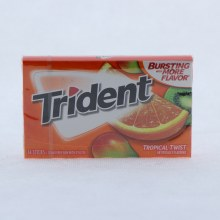 Trident Tropical Twist Gum, Sugar Free Gum with Xylitol 14 ct