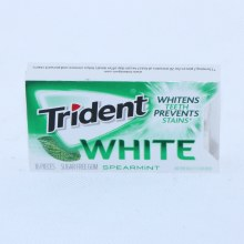 Trident White Spearmint Gum, Sugar Free Gum, Whitens Teeth Prevents Satins 14 ct