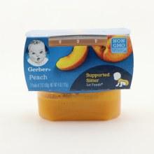 Gerber Peach, NON GMO, & 2 packs of 2oz 4 oz