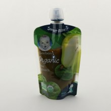Gerber Organic Pear   and  Spinach  NON GMO  USDA Organic  for Sitter 2nd Foods 3.5 oz