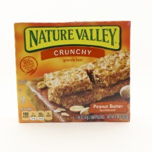 Nature Valley Crunchy Peanut Butter Granola Bars, Made With 100% Natural Whole Grain Oats 8.94 oz