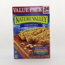 Nature Valley Crunchy Granola Bars 24 Pack Value Pack Maple Brown Sugar Peanut Butter Oats n Honey