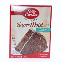 Betty Crocker Super Moist Cake Mix, Chocolate  15.25 oz