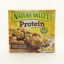 Nature Valley Protein Chewy Bars with Peanut Almond  and  Dark Chocolate 10g of Protein  and  Gluten Free