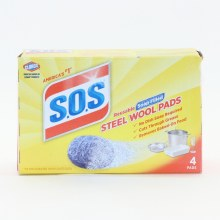 Clorox S.O.S Srub Wool Pads No Dish Soap Required Cuts Through Grease Removes Baked On Food