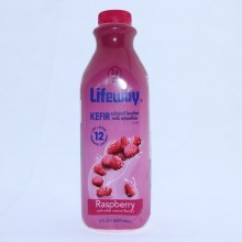 Lifeway Kefir Raspberry Cultured Lowfat Milk Smoothie Lightly Sweetened with Only 1g of Added Sugar per Ounce Naturally Gluten Free Up to 99Per Cent Lactose Free No Artificial Sweeteners Rich in Calcium 1 Quart