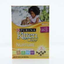 Purina Kitten Chow Kitten Food, No Artificial Colors or Flavors, High in Protein, DHA, Essential Nutrients and Antioxidants for a Strong Immune System 18 oz