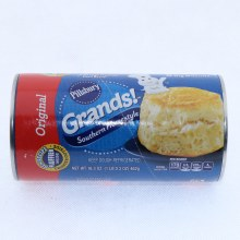 Pillsbury Grands! Original Southern Homestyle Big Biscuits. No colors from Artificial Sources. No High Fructose Corn Syrup. 16.3 oz