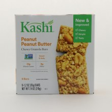 Kashi Peanut Peanut Butter Chewy Granola NON GMO Sweet  and  Salty 13g Whole Grains  and  3g Fiber