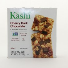 Kashi Cherry Dark Chocolate Chewy Granola Bars NON GMO Sweet  and  Tart Cherries Responsibly Sourced Cocoa  and  3g Fiber