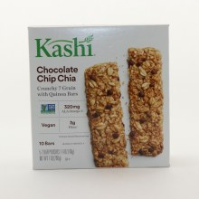 Kashi Chocolate Chip Chia Crunchy 7 Grain With Quinoa Bars Non GMO 320mg ALA Omega 3 Vegan 3g Fiber