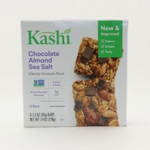 Kashi Chocolate Almond Sea Salt Chewy Granola Bars NON GMO Sweet and Salty Whole Roasted Almonds  and  3g Fiber