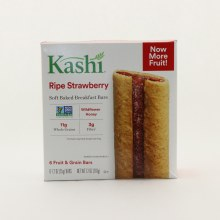 Kashi Ripe Strawberry Soft Baked Breakfast Bars, NON GMO, Wildflower Honey, 11g Whole Grains, & 3g Fiber 7.2 oz