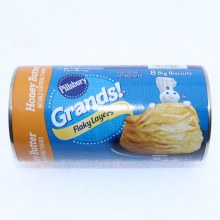 Pillsbury Grands! Honey Butter Flaky Layers Big Biscuits. No Colors From Artificial Sources. No High Fructose Corn Syrup.  16.3 oz