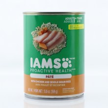 Iams Proactive Health Pate Adult Dog Food with Chicken and Whole Grain Rice  12.3 oz