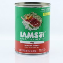 Iams Proactive Health Pate Adult Dog Food with Lamb and Rice 13.2 oz