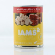 Iams Premium Puppy Food with Chicken  and  Beef in Gravy Chunks Veterinarian Recommended