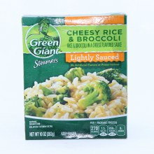 Green Giant Steamers Cheesy Rice and Broccoli Lightly Salted No Artificial Flavors or Preservatives 10 oz