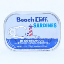 Beach Cliff Sardines in Soybean Oil, 3.75 oz 3.75 oz