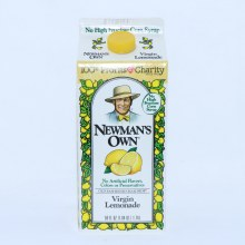 Newman's Own Virgin Lemonade, 59 fl oz, No Artificial Flavors, Colors, or Preservatives. 15% Lemon Juice.  64 oz