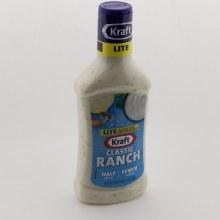 Kraft Lite Classic Ranch Dressing, Half the Fat, Fewer Calories Than Regular Dressing 16 oz